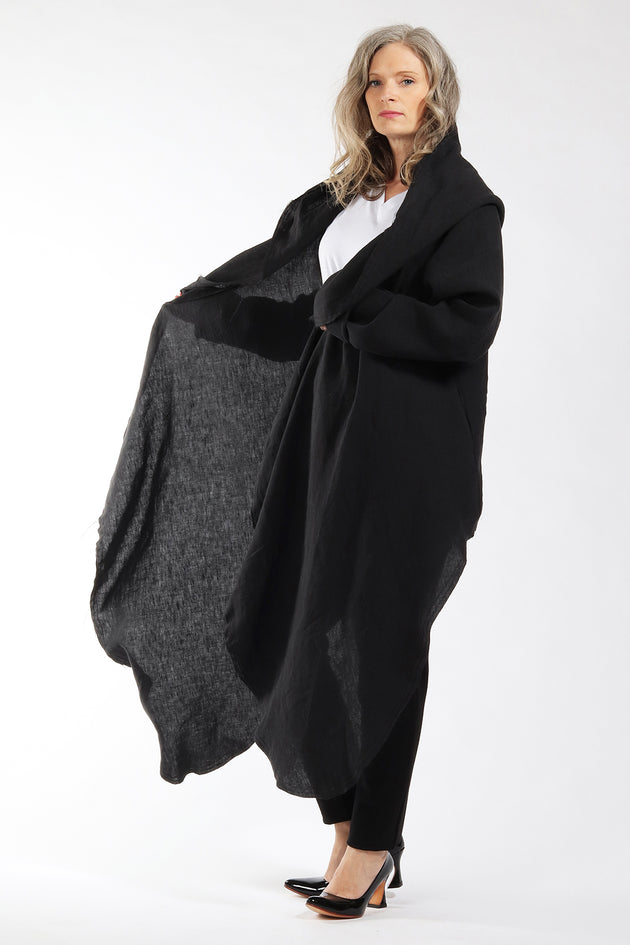 One of a kind #00300 - drape front cardigan - side view - Lennard Taylor