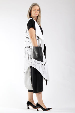 One of a Kind #00309 - hand painted Sophie vest - side view - Lennard Taylor