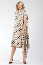 One of a Kind #00323 - polka dot linen dress - side - Lennard Taylor