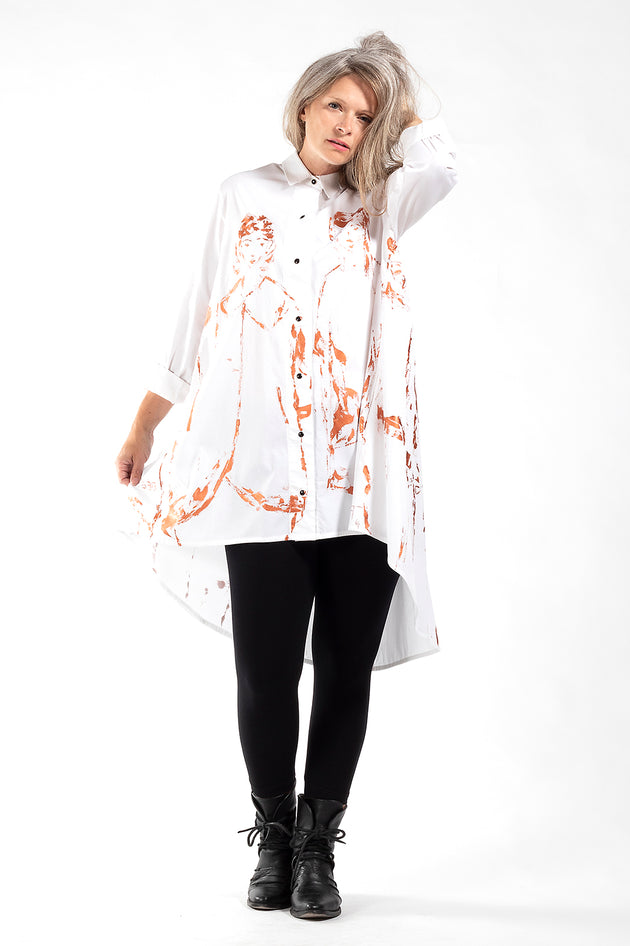 One of a Kind #00268_hand painted Brenda swing Shirt_#338_front_Lennard Taylor