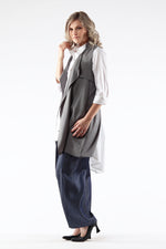 open front Shelley vest - back - Lennard Taylor