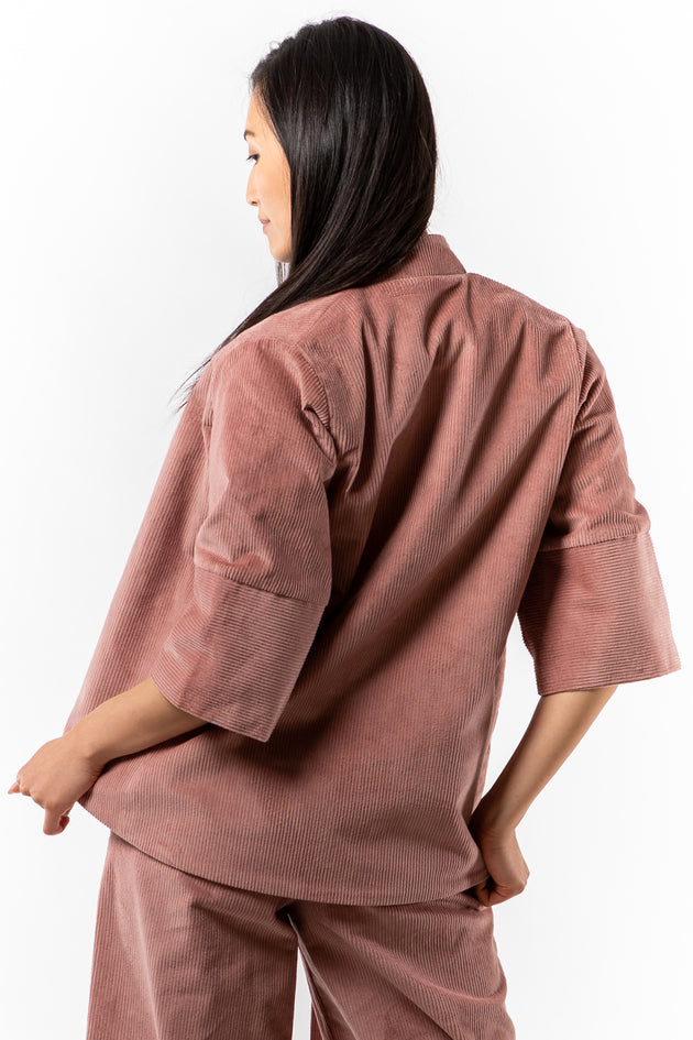 Tracey Jacket - Blush Corduroy - back view - Lennard Taylor