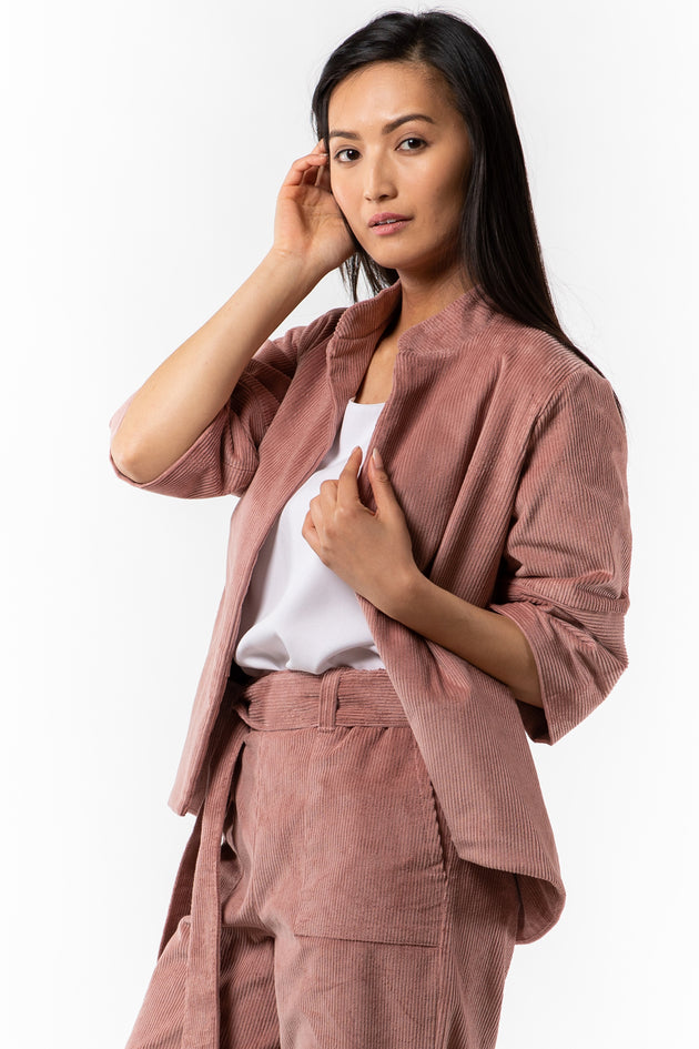 Tracey Jacket - Blush Corduroy - side view - Lennard Taylor
