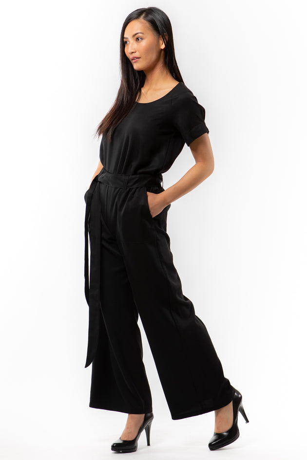VICTORIA Pant - black - side View - Lennard Taylor