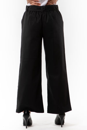 Victoria Pant - Black twill - back view on model - Lennard Taylor