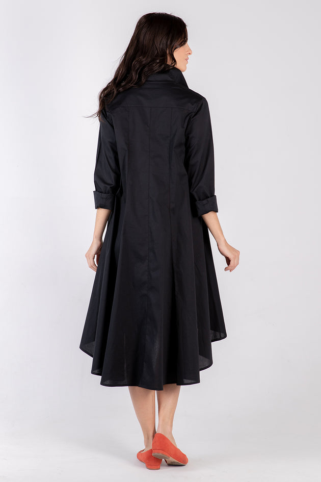 black Beatrix dress- back - Lennard Taylor