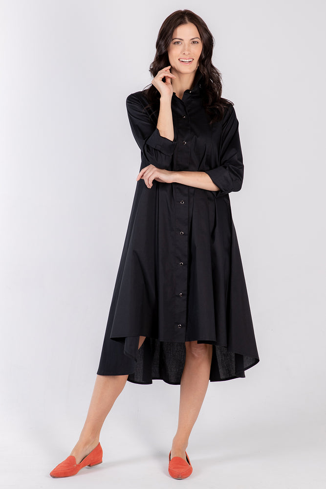 black Beatrix dress- front - Lennard Taylor