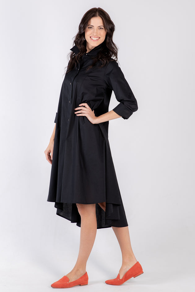 black Beatrix dress- side - Lennard Taylor