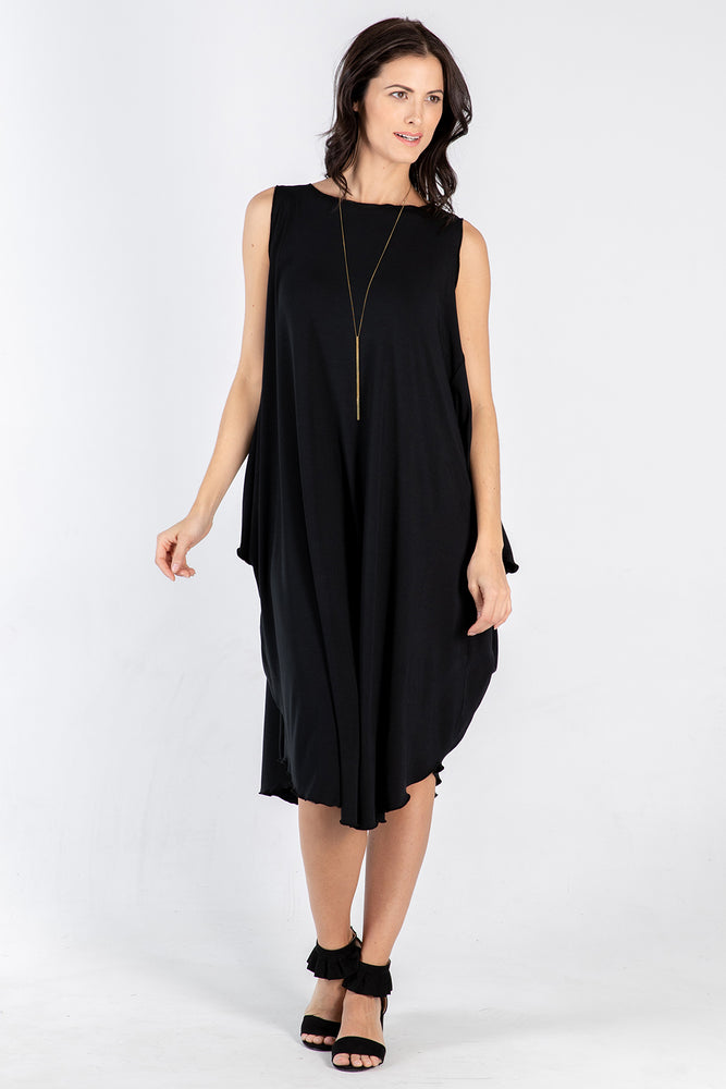 black Sigra dress - front - Lennard Taylor
