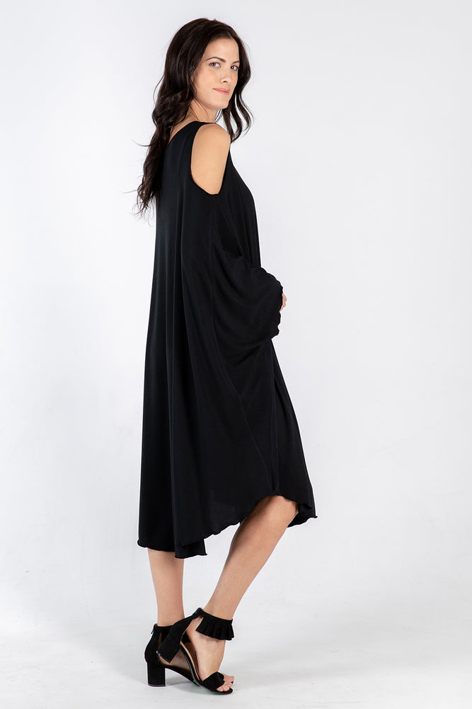 black Sigra dress - side - Lennard Taylor