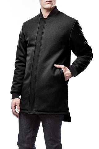 Black Wool Troublemaker Coat, Jacket - Lennard Taylor Design Studio - 1
