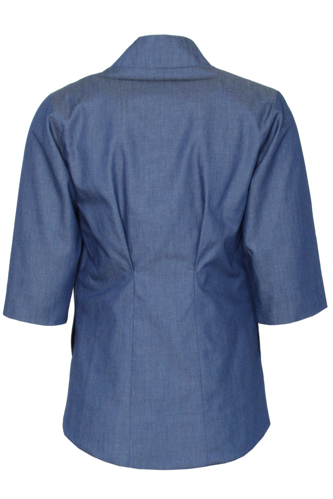 blue Olivia jacket - back flat Lay - Lennard Taylor
