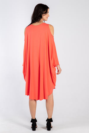 coral Sigra dress - back - Lennard Taylor