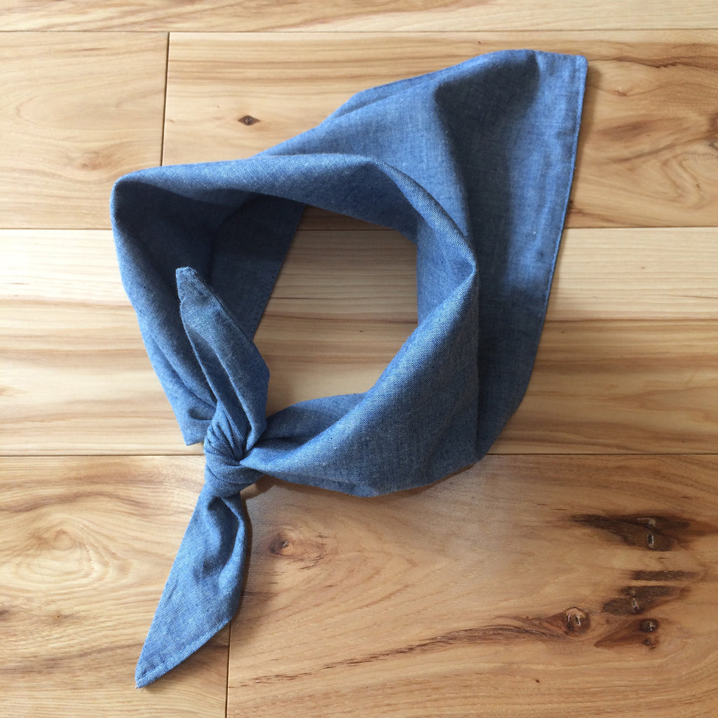 chambray triangle kerchief - Lennard Taylor