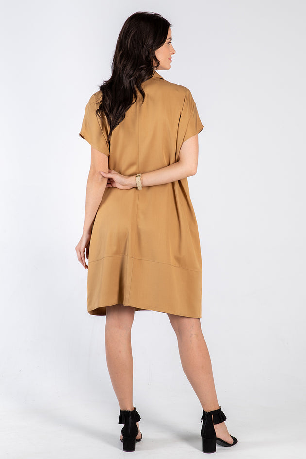 ochre Fran dress - back - Lennard Taylor