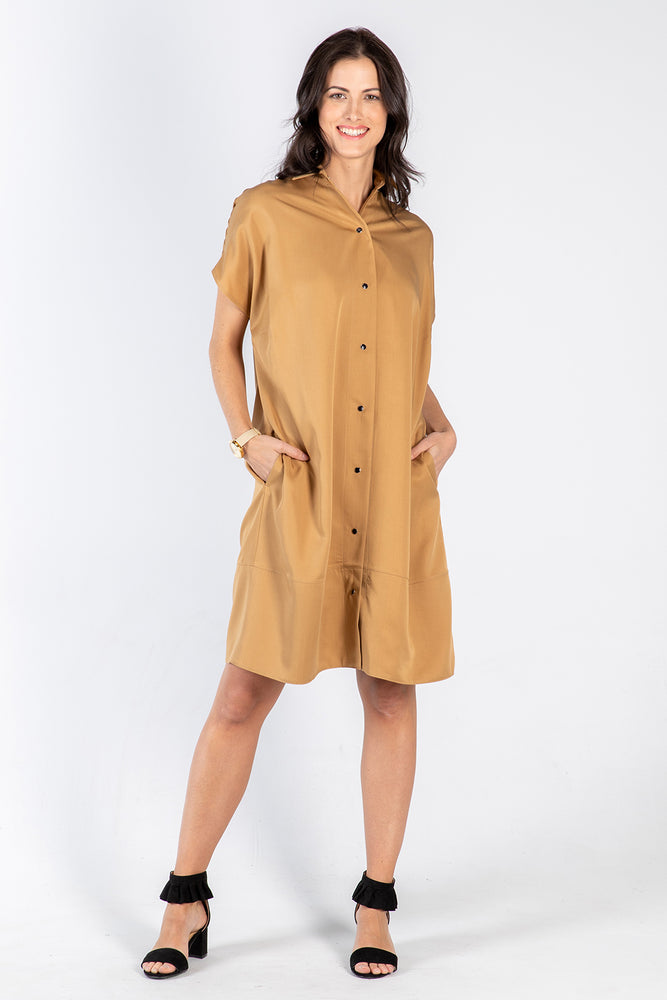 ochre Fran dress - side - Lennard Taylor