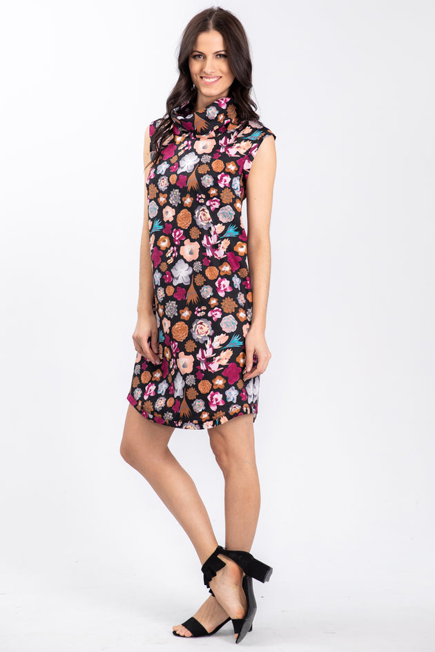 KRYSTLE Dress - Petunia print - side view - Lennard Taylor