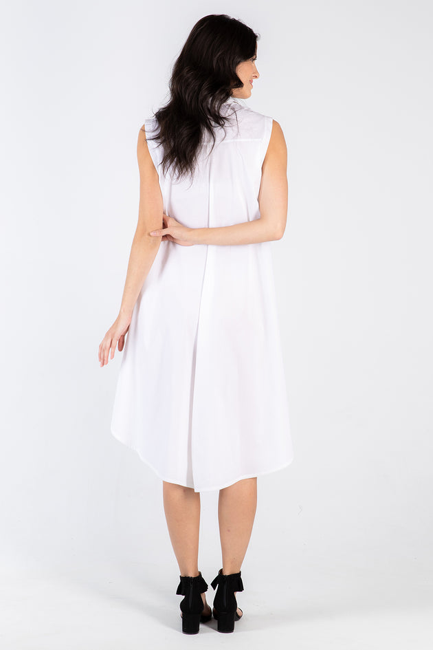 white Amanda dress - back - Lennard Taylor