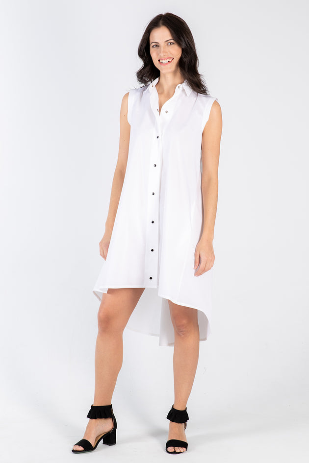white Amanda dress - front - Lennard Taylor