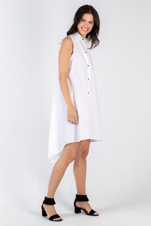 white Amanda dress - side - Lennard Taylor