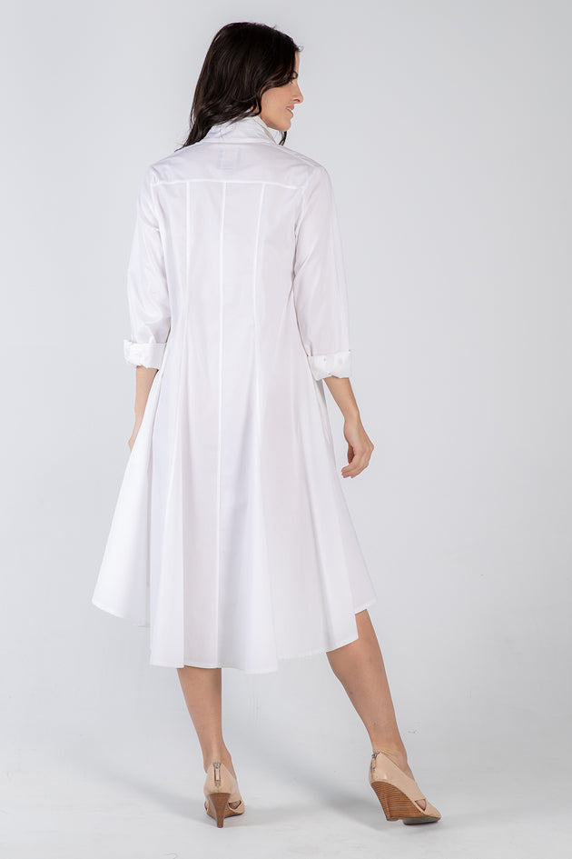 white Beatrix dress- back - Lennard Taylor