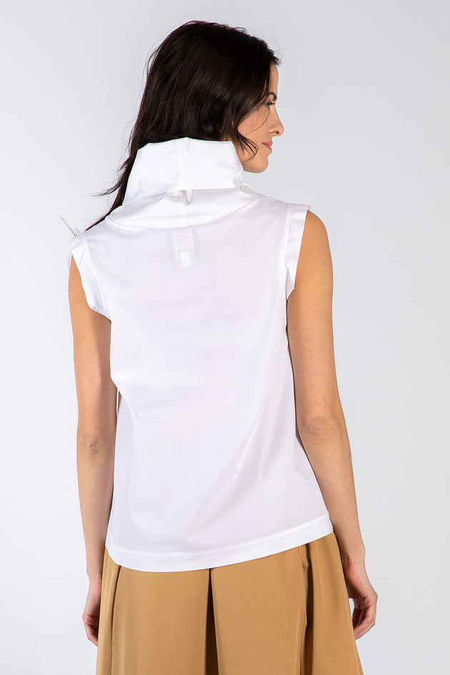 white Kryst top - back - Lennard Taylor