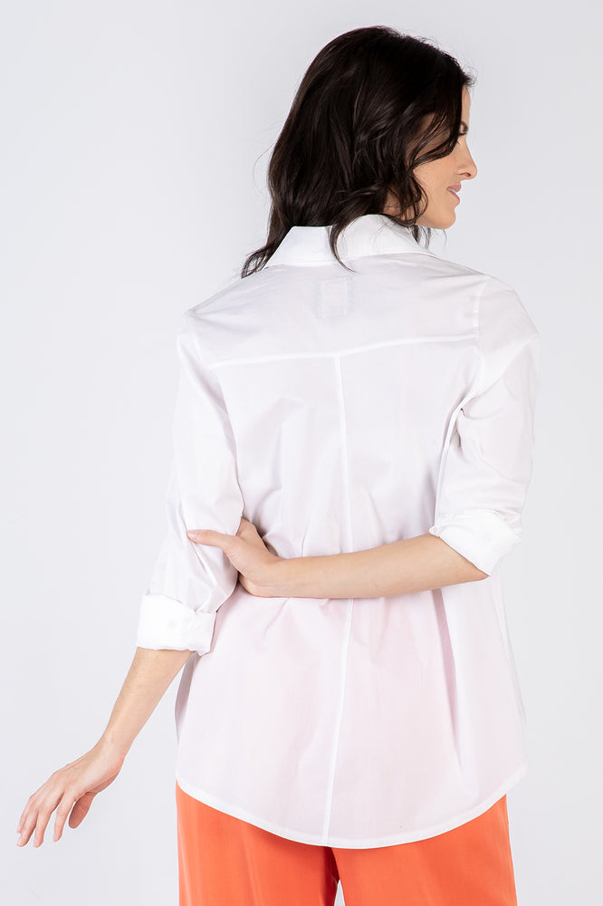 white Lizzie shirt - back - Lennard Taylor
