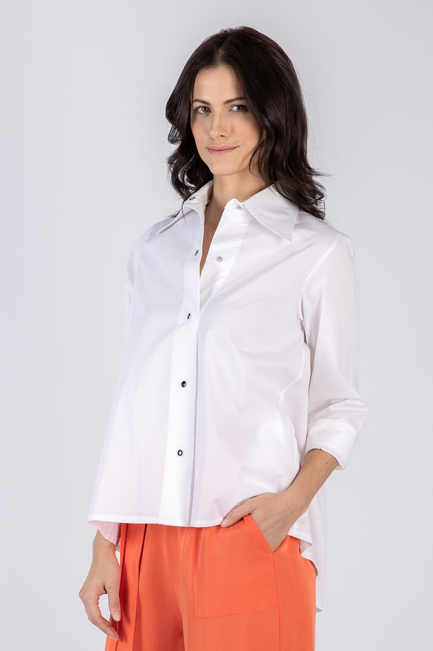 white Lizzie shirt - front - Lennard Taylor