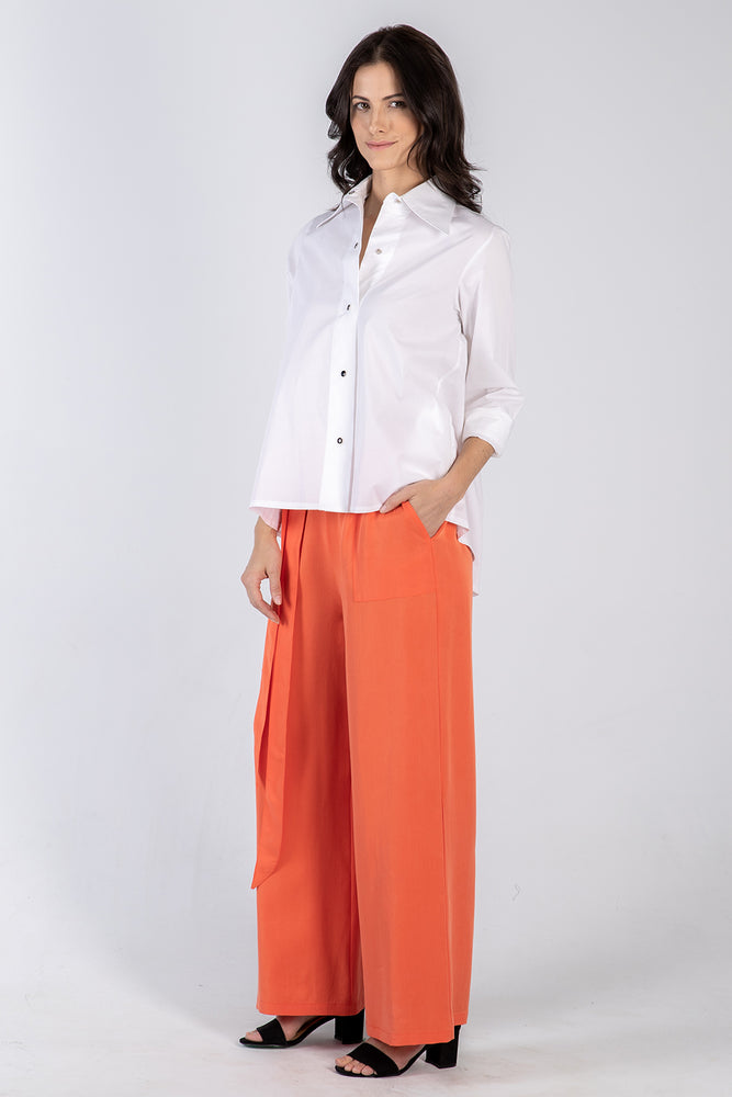 white Lizzie shirt - front full - Lennard Taylor