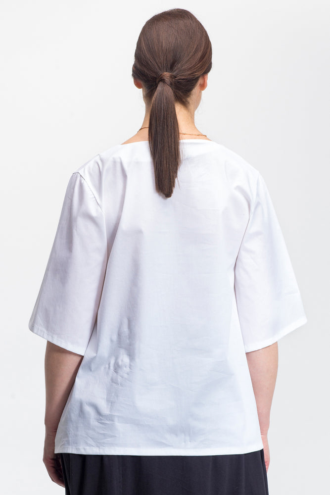 white Serena shirt - back view - Lennard Taylor