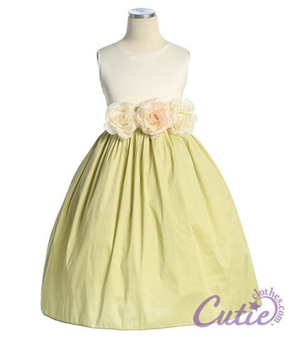 Sage Flower Girl Dress - 3712
