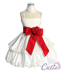White Flower Girl Dress - 578