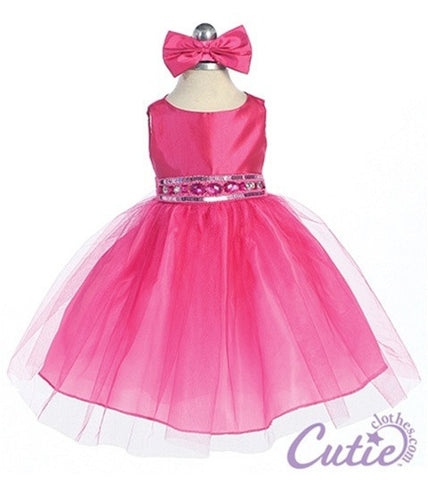 Fuchsia Baby Dress - B548