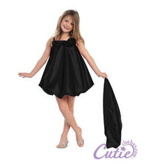 Black Flower Girls Dress - C615