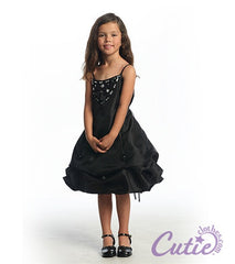 Black Flower Girl Dress - D579