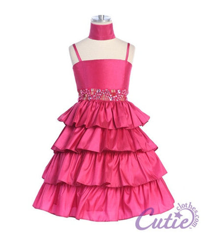 Fuchsia Girls Dress - D583