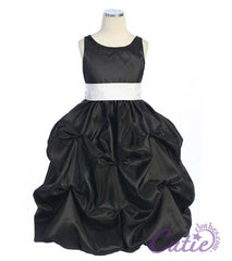 Black Flower Girl Dress - 599