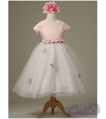 Pink Flower Girl Dress - 1080