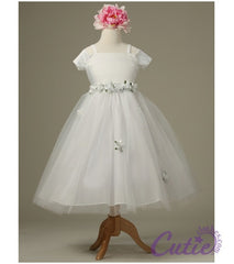 White Flower Girl Dress - 1080
