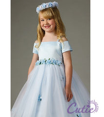 Blue Flower Girl Dress - 1080