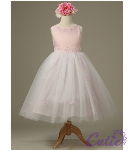 Pink Flower Girl Dress - 1110