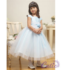 Blue Flower Girl Dress - 01185