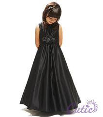 Black Flower Girl Dress - 1188