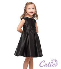 Black Flower Girl Dress - 1202