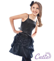 Black Flower Girls Dress - J-1194