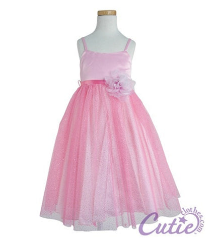 Pink Flower Girl Dress - 264