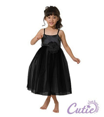 Black Flower Girl Dress - 264