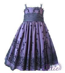 Eggplant Flower Girl Dress - 279