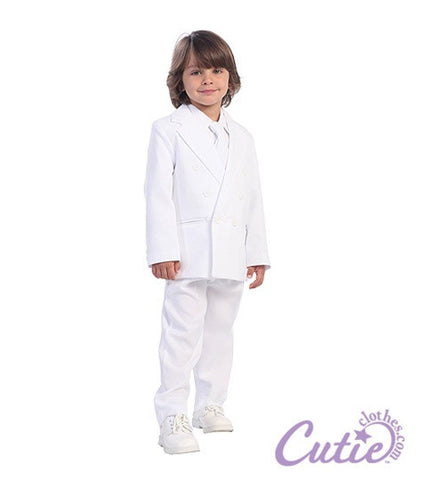 White 2-Piece Boys Suit - 3593