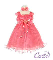 Coral Baby Dress - 1083B